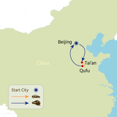 China Tour Map